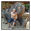 4th year Pic 159 - June - 14 2012 Two jumbos! -  Maetaeng Elephant Park, Cihang Mai, Thailand  It was a super surprise to see my Elephant ride pic at #1 slot this morning (India time)!   Thank you SO much for your supportive comments!