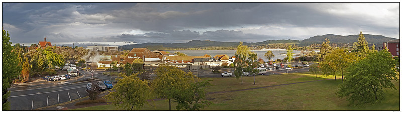 View from Motu's room<br /> Millennium Hotel, Rotorua<br /> Pano from 8 images